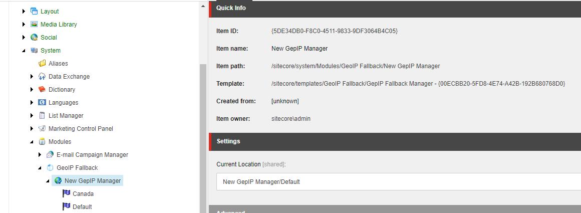 GeoIP Fallback - Sitecore Marketplace